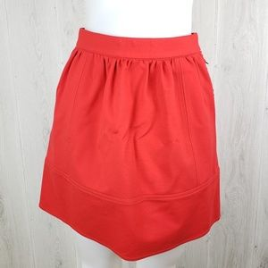Madewell Red Swivel Ponte skirt Size 2